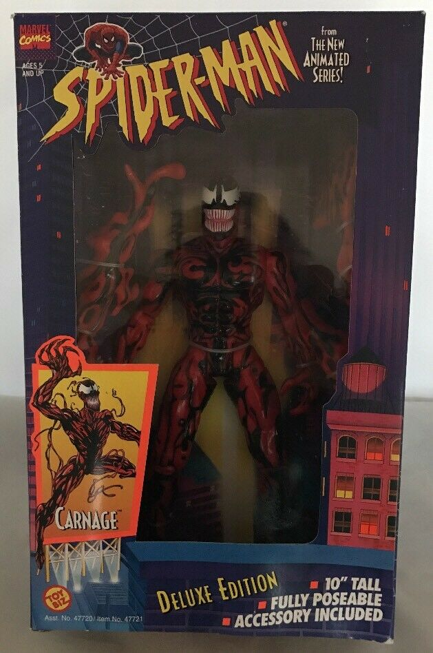 1994 Toy Biz Marvel Comics Spider-Man Carnage Deluxe Edition 10 inch Figure