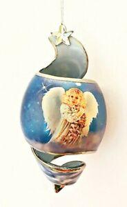 Starlight Blessings 2001 Porcelain Angel Ornament Sparkle Sparkle Shining Bright