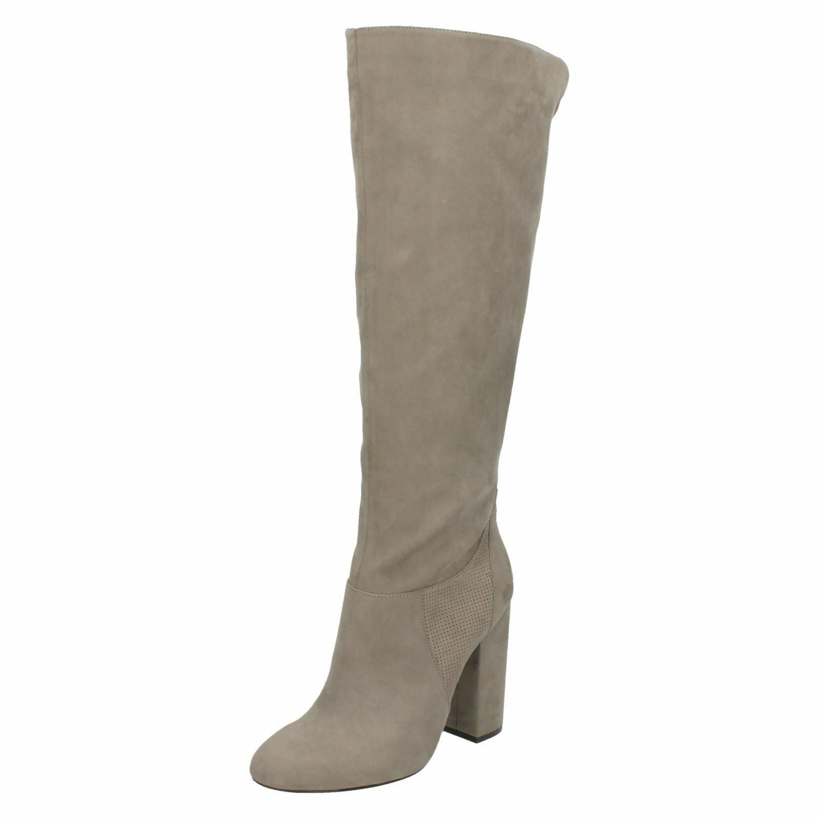 Anne Michelle F50651 Ladies Grey Microfibre Knee High Boots
