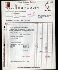 """ORLEANS (45) GARAGE CONCESSIONNAIRE BERLET """"Pierre BOURGOUIN"""" en 1962"""
