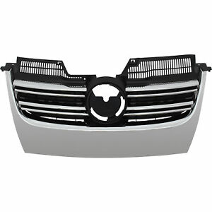 Kuehlergrill-Frontgrill-VW-Jetta-III-1K-Golf-5-V-Bj-03-10-R-Look-kein-PDC