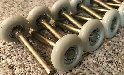 Premium Garage Door Rollers White Nylon Ball Bearing 12 Pack Wheels