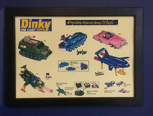 Dinky-Toys-Thunderbirds-capitan-escarlata-A4-tamano-poster-enmarcado-ANUNCIO-FOLLETO