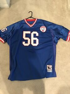 new styles 38b2a 80cc3 Details about Lawrence Taylor Ny Giants Mitchell And Ness Throwback Jersey  size 56
