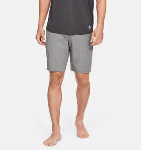 New Grey Under Armour UA Men/'s Athlete Recovery Sleepwear Shorts