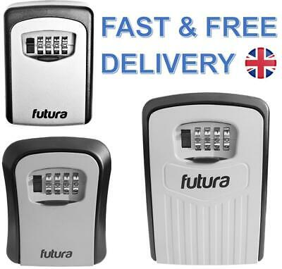 NEW-Futura Wall Mounted Key Safe Box Secure Lock Safety Security Outdoor Storage
