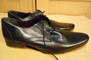 Alex-Shilton-Men-039-s-Uk-9-Black-Leather-Lace-Up-Shoes