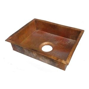 Details About Rustic Industrial Style Pure Copper Kitchen Sink Home Improvement