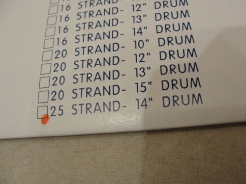 """STAGG SNAPPY SNARES 14 INCH SNARE DRUM WIRES 14/"""" X 25 STRANDS FREE SHIPPING"""