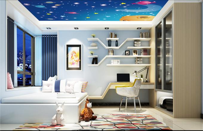 3D Cute Planet Sky 9 Ceiling WallPaper Murals Wall Print Decal Deco AJ WALLPAPER