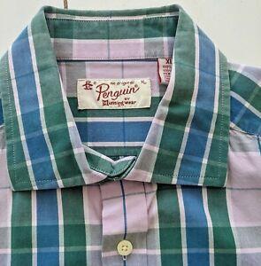 Pinguin Herren Shirt Größe XL-schöne karierte Stoff