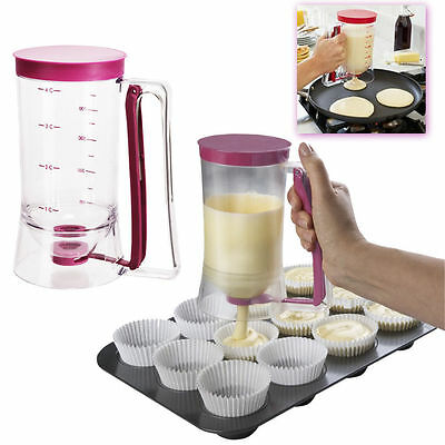 Cake Mix Batter Dispenser Measuring Cupcake Pancake Muffin Baking Release Jug