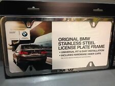 BMW Polished Stainless Laser Slimline License Plate Frame OEM 82120042709