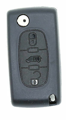 fits to FIAT Scudo 3 buttons FOB REMOTE KEY Case blade type HU83