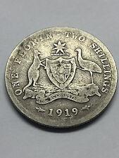 1 Florin/ 2 Shillings 1919-M  Silver .3363 oz ASW #1597