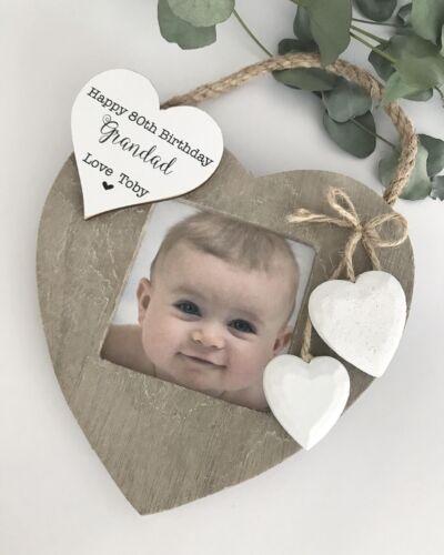Personalised Photo Frame Birthday Gramps Nanna Grandad Granny etc F66