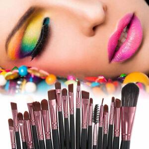 20pcs Makeup Brushes Kit Set Powder Foundation Eyeshadow Eyeliner Lip Brush Top
