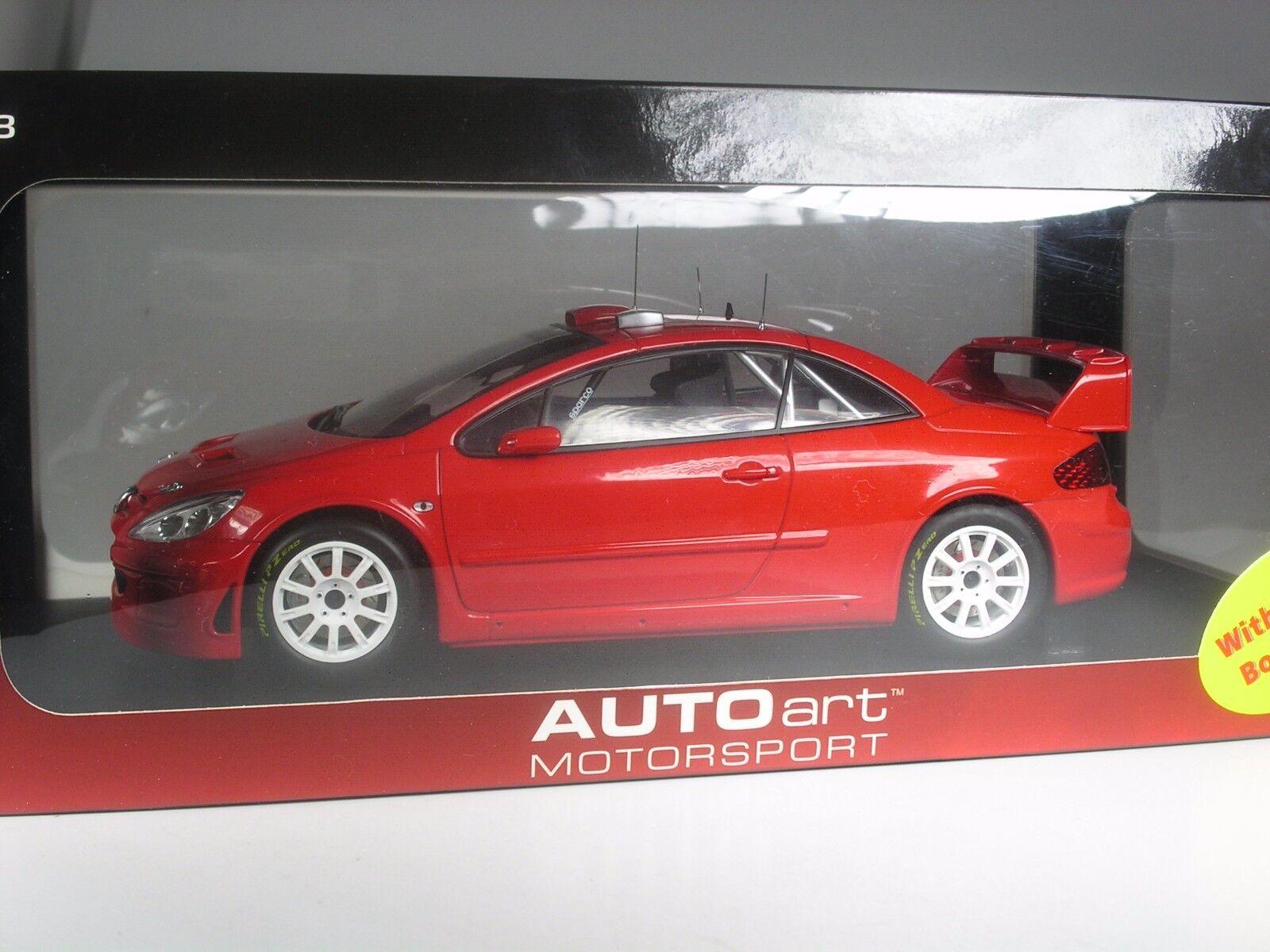 Autoart Peugeot 307 Coupé rot in 1 18 in OVP