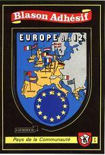 carte Kroma écusson EUROPE 12 adhésif pour camping car collection blason sticker