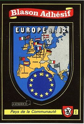 collection blason sticker carte Kroma écusson EUROPE adhésif pour camping car