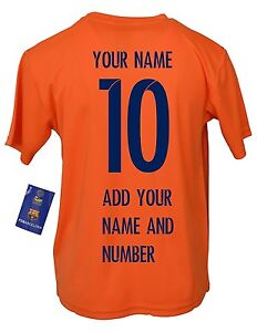 premium selection 7a757 a5d04 Details about FC Barcelona Soccer Jersey Youth Kids Training - Add Your  Name & Number Messi 10