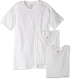 Hanes Ultimate Mens 3-Pack FreshIQ Crew Neck Tee White 4X-Large