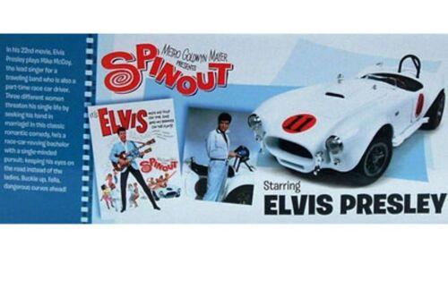Auto World awss104 Mgm centrifugación Elvis Presley Shelby Cobra 427 S//c 1965 1:18 Th