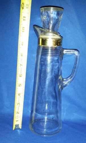 Vintage Juice OR Wine - Stylish LIQUOR DECANTER w/GOLD Trim & EAGLE on STOPPER
