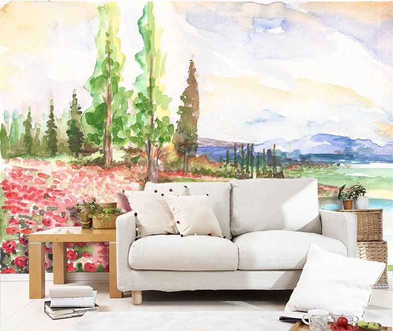3D Painting plants 246 Wall Paper Wall Print Decal Wall Deco Indoor Wall Murals