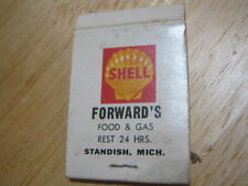 Vintage Forward's Food & Gas Rest 24 Hrs Standish MICH SUPER SHELL Matchcover