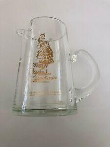 "Dewar's ""White Label"" Scotch Whisky Whiskey Glass Advertising Pitcher"