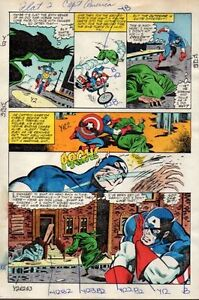 Original-1982-Captain-America-272-page-11-Marvel-Comics-color-guide-art-Zeck-80s