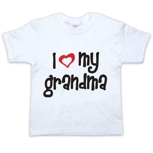 Niño Camiseta 0-5yrs Me encanta mi abuela Bebé