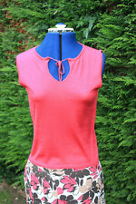 New Monsoon Size 14 Fuchsia sleeveless silk top ideal for under suit £34.95 RRP