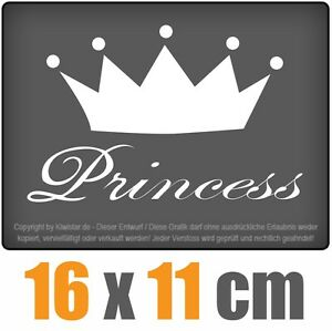 Princess-16-x-11-CM-JDM-decal-sticker-coche-car-blanco-discos-pegatinas