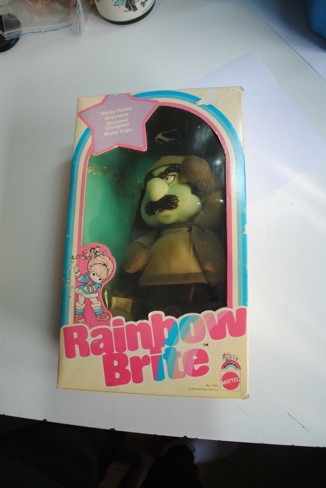 1983 vintage Mattel MURKY DISMAL   plush toy Rainbow Brite doll BOXED -NRFB