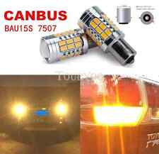 2x ERROR FREE BAU15S PY21W 7507 Amber LED Rear Turn Signal Light Projector Bulb