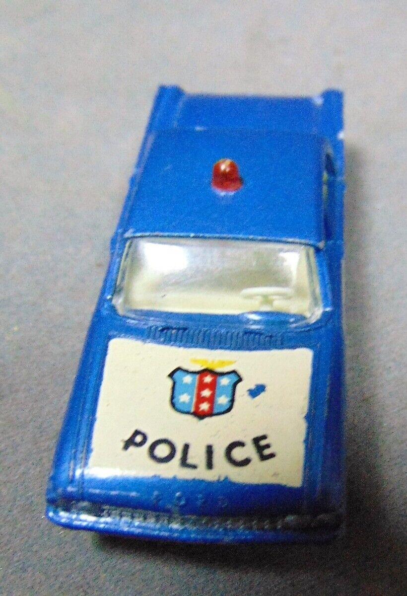 Matchbox Lesney 55 B4 Ford Fairlane Die Cast Policía Coche biancao Capucha LT blu.