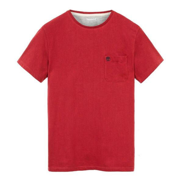 Attento Timberland T-shirt Uomo Dunstan Tb0a1lpg-r09 Rosso Mod. Tb0a1lpg-r09 Buono Per L'Energia E La Milza