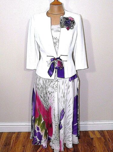 A7 Medici Jacket Top & Skirt Mother of The Bride Outfit UK Size 10 RRP 499