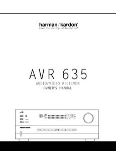 harman kardon avr 635 av receiver owners manual ebay rh ebay com www Harman Kardon AVR 635 Receiver harman kardon avr 635 user manual