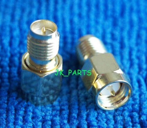 1pc New Adapter RP.SMA female plug to SMA male connector straight gold plating