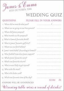 wedding trivia cards bire 1andwap com