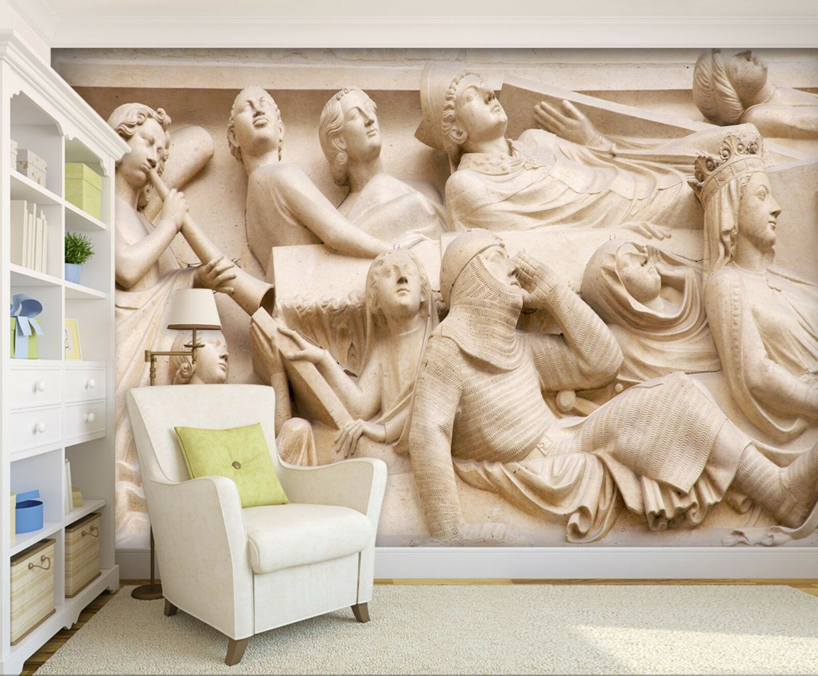 3D Character Art Carving  4 Wall Paper wall Print Decal Wall Deco Indoor Mural