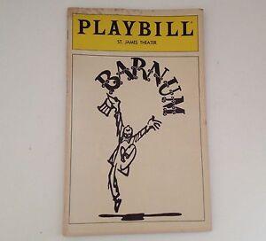 Playbill-Barnum-St-James-Theatre-1981-Jim-Dale-Theater-NYC