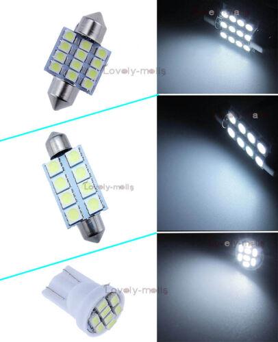 For 2015-2018 Ford Mustang White Interior LED Lights Package Kit Bulbs Lamp O5