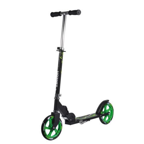 "Hudora City Scooter//Children Roller Hornet Alu//Steel 8/"" 205h Neon 205mm Green"