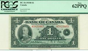PCGS-BC-1b-1935B-1-New-62PPQ-Canada-Serial-A5823403-Plate-A2-2