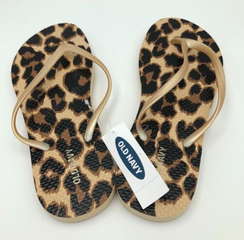 Old Navy Women/'s Rare Leopard Pattern Flip Flop Select Your Size NEW