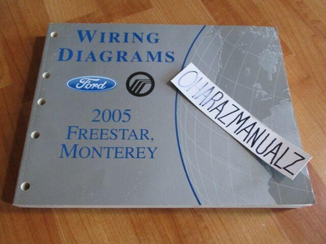 2005 Ford Freestar Mercury Monterey Wiring Diagrams Manual Oem
